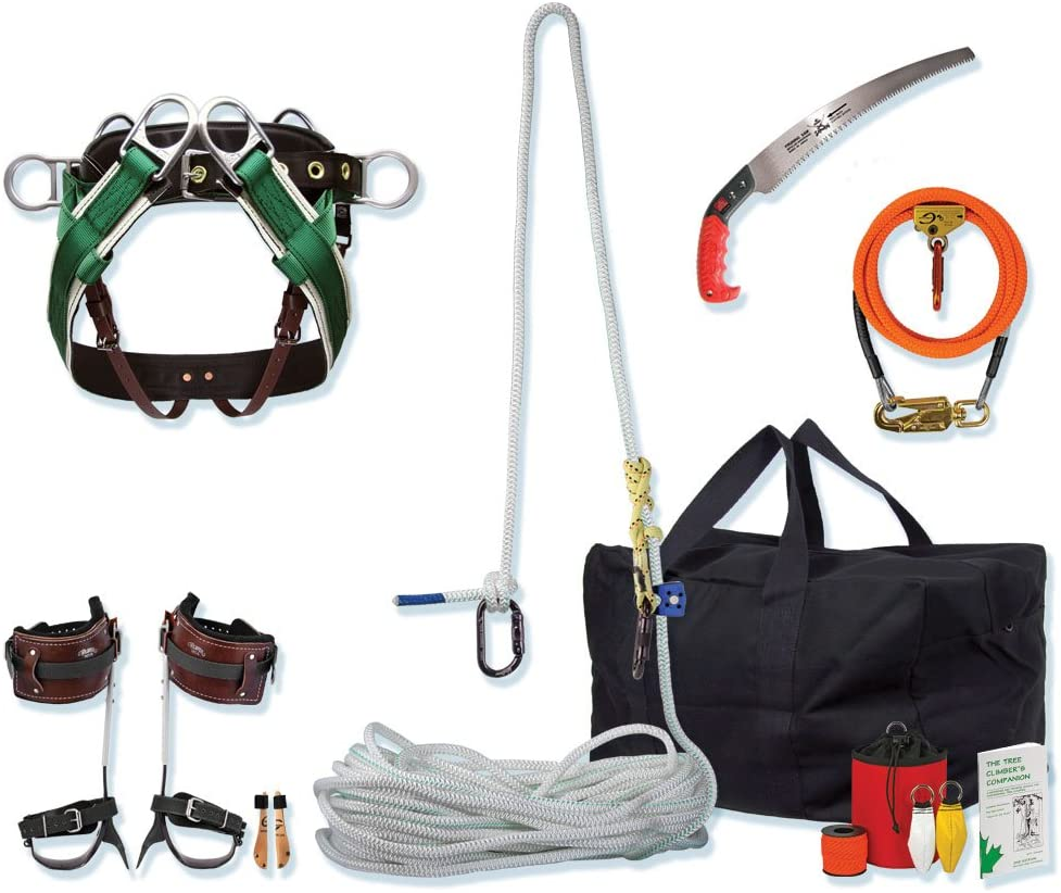 11 Best Tree Climbing Gear Kit in 2021 That You Need to Carry-Entry-Level Combo Spur and Rope Kit