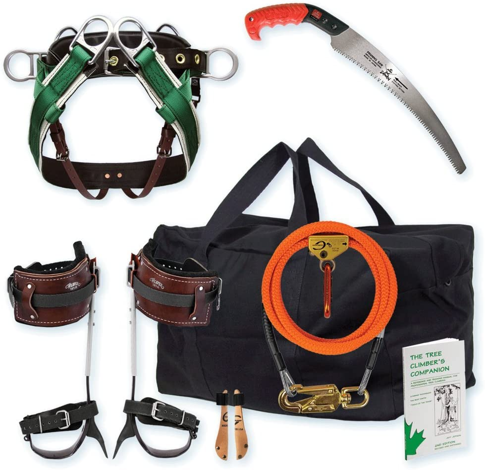11 Best Tree Climbing Gear Kit in 2021 That You Need to Carry-Entry-Level Spur Kit Large