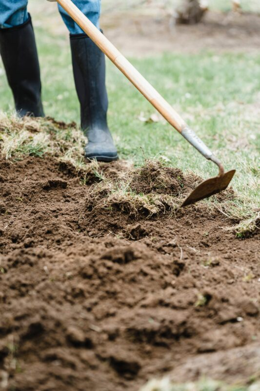 How to plow a garden by hand